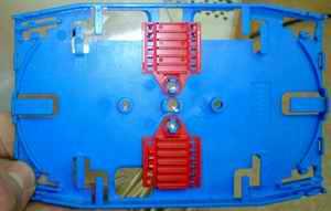 Организатор световодов (сплайс-пластина)или кассета для укладки оптического волокна в боксе оптического кросса