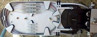 оптоволоконная кассета с уложенными волокнами