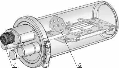 Устройство муфты МТОК. Кронштейн для установки адаптеров (розеток) типа FC (ST)